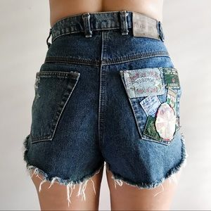 ⚡️ VINTAGE FABERGE PATCH SHORTS ⚡️